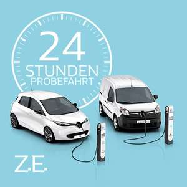 Renault ZOE 24 Stunden lang gratis testen