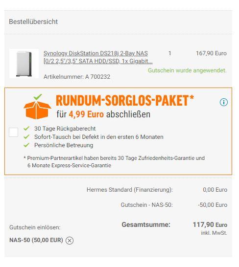 Synology DiskStation DS218j - Leergehäuse
