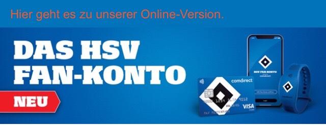 50€ Startguthaben o. Bedingungen durch Eröffnung von Comdirect HSV Konto