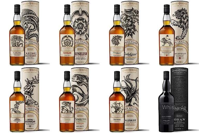 [Ringeltaube, offline, bundesweit] Game of Thrones Whisky, alle acht Sorten (auch die ausverkauften!)