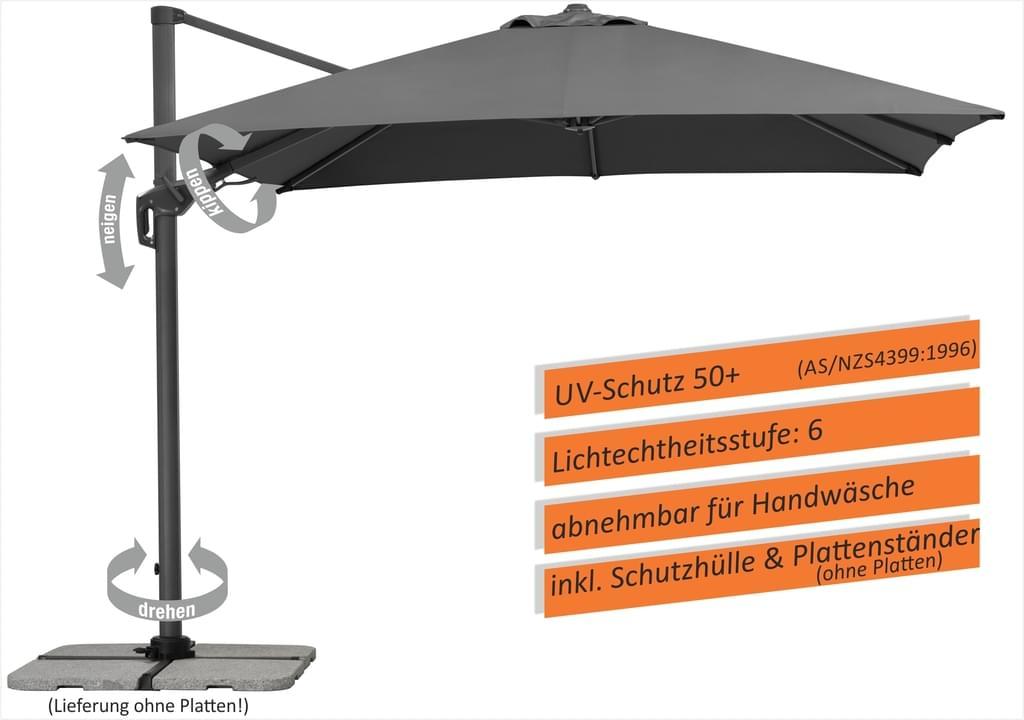 Sonnenschirm/Ampelschirm Schneider Rhodos Twist 300 x 300 cm