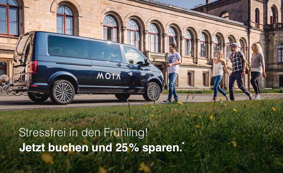 [Lokal Hannover] Frühlingsrabatt auf eine Fahrt mit MOIA