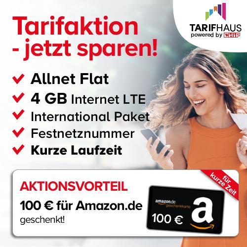 Blau Allnet XL Spezial Edition für 14,99€ | 6 Monate Laufzeit | 100€ Amazon Gutschein | Festnetznummer | 100 Minuten ins Ausland | eff. -0,07€