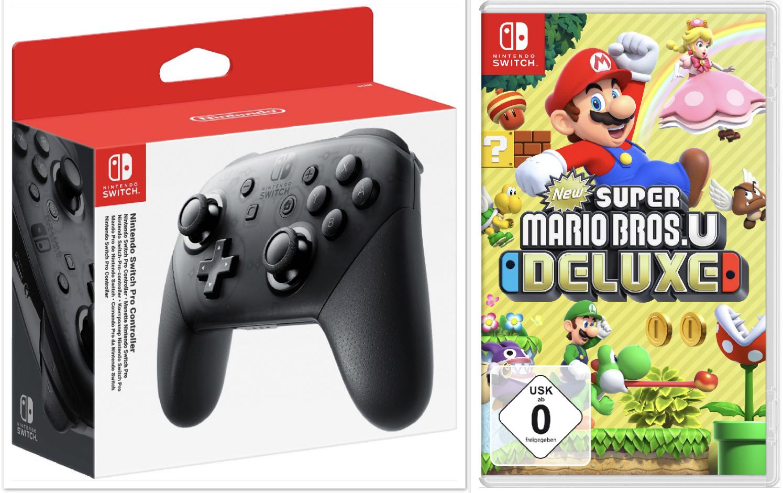 Nintendo Switch Pro Controller für 48,94€ oder Nintendo Switch New Super Mario Bros. U für 40,94€ usw. + 5-fach Payback! [myToys Paydirekt]