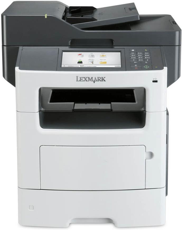 Lexmark MX617de Monolaser-Multifunktionsdrucker (Drucker, Scanner, Kopierer, Fax, A4, 47S/min, 650 Blatt, LAN, USB, Farb-LCD, Direct Print)
