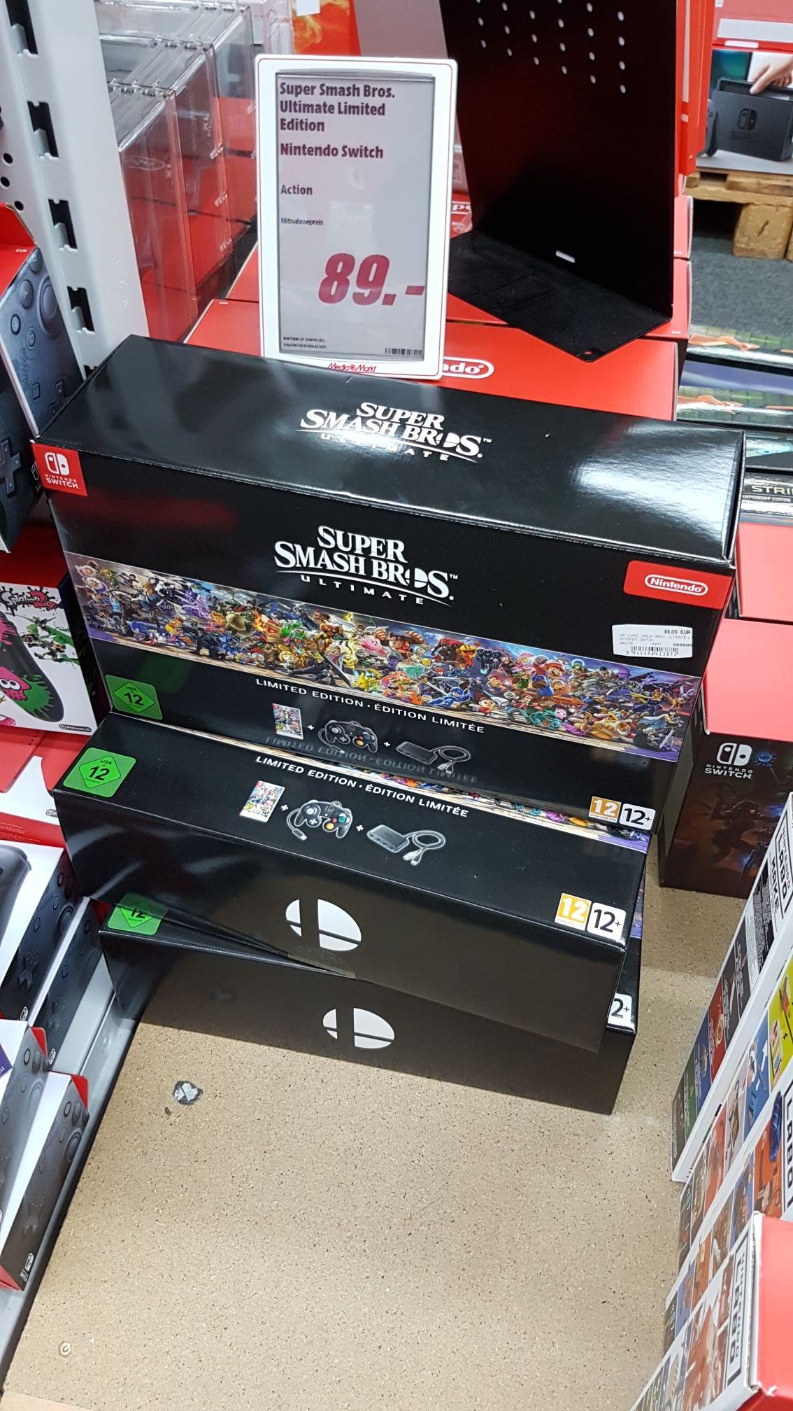 [Lokal Essen] MediaMarkt Super Smash Bros Ultimate Limited Edition - Nintendo Switch - für 89€