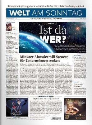 3 Monate Welt am Sonntag für 59,80€ + 60€ Bestchoice Gutschein