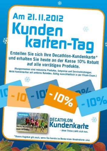[Essen] Am 21.11. Decathlon Kundenkarten-Tag: 10% auf alles