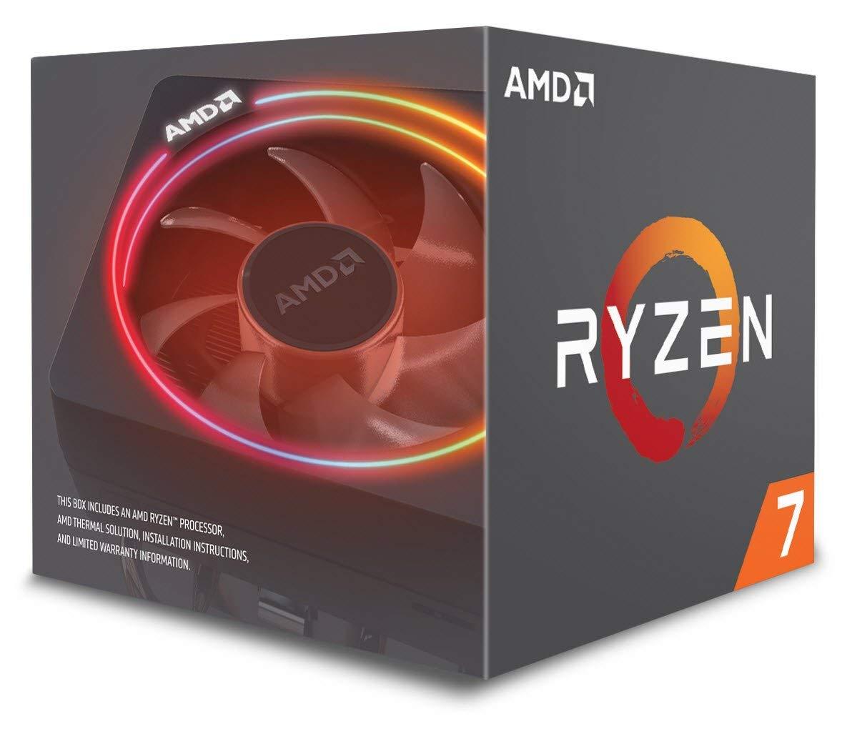 AMD Ryzen 7 2700X mit Wraith Prism Kühler - 8x 3,7 bis 4,3 GHz (16 Threads) für 282,67€ (Amazon.it)