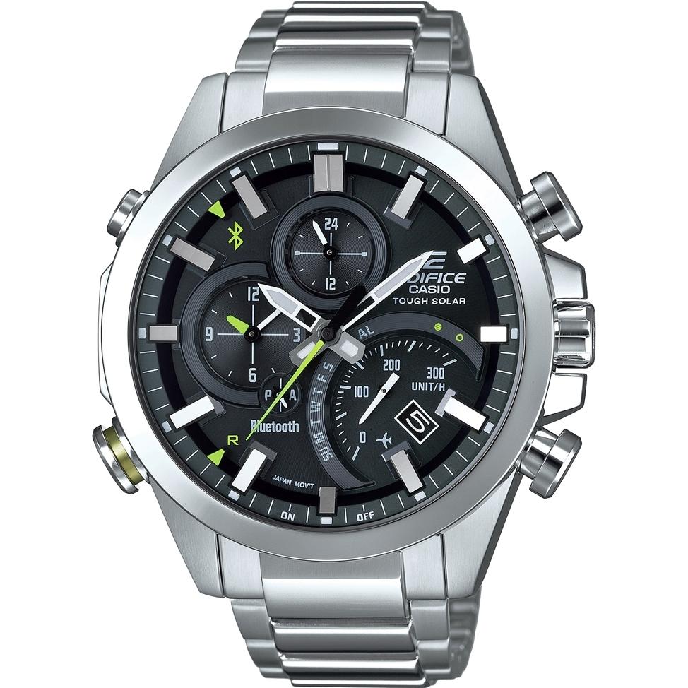 Hybrid-Smartwatch Casio Edifice EQB-501D-1AMER (Quarz, Mineralglas, Solar, Bluetooth, 2 Zeitzonen, Kalender, Accelerometer, Stoppuhr, 10bar)