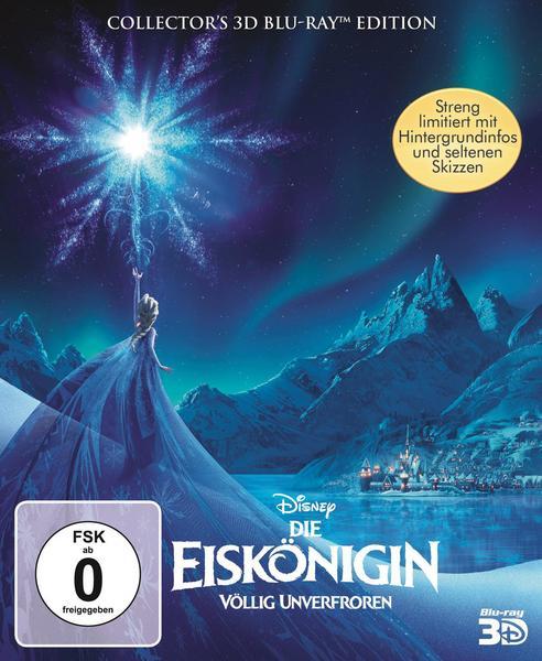 Die Eiskönigin - Völlig unverfroren 3D Limited Collector's Edition (3D Blu-ray + Blu-ray) für 14,19€ versandkostenfrei (Saturn)