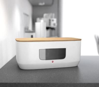Hailo KitchenLine Design-Brotkasten in Grau und Weiß