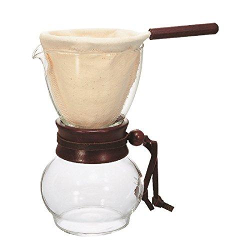 Hario DPW-1 Drip Pot Woodneck Kaffeekanne mit Stofffilter [Amazon]