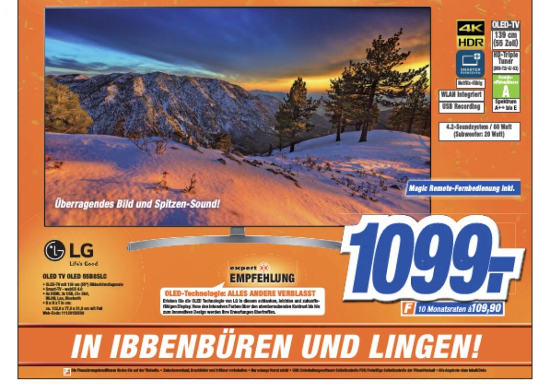 Lokal Wiedereröffnung Expert Lingen- LG OLED 55 B8, Smart TV