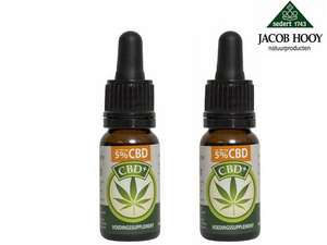 2x 10 ml Jacob Hooy CBD-Öl 5 %