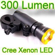 5 Watt CREE-LED Taschenlampe mit Fahrradhalterung + Rücklicht (300 Lumen) - 9,99€ + Versand
