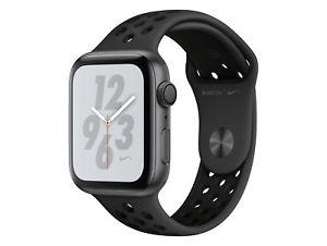 Apple Watch Series 4 Nike+, 44 mm, Alu. space grau, Sportarmb. anthr./blk