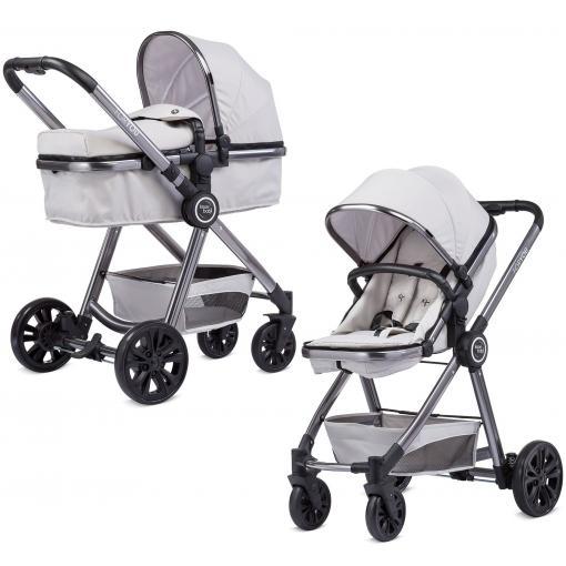 Knorr Baby: Kombikinderwagen For You in grau / Aluminiumgestell / inkl. Babywanne und Sportsitz