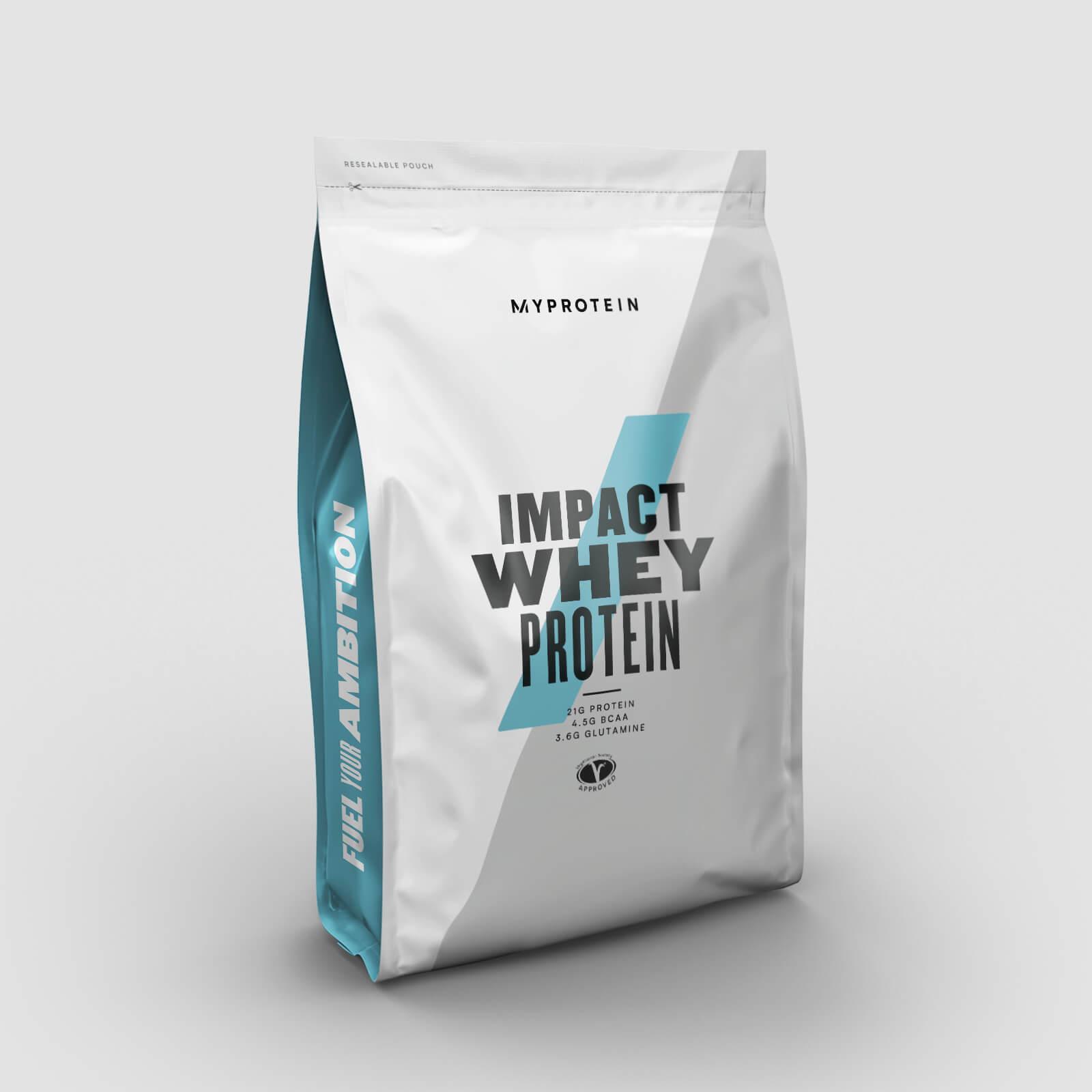 45% bei Myprotein: z.B. 5kg Impact Whey Protein + 1kg Erdnussbutter + 100ml FlavDrops für 50,80€ versandkostenfrei
