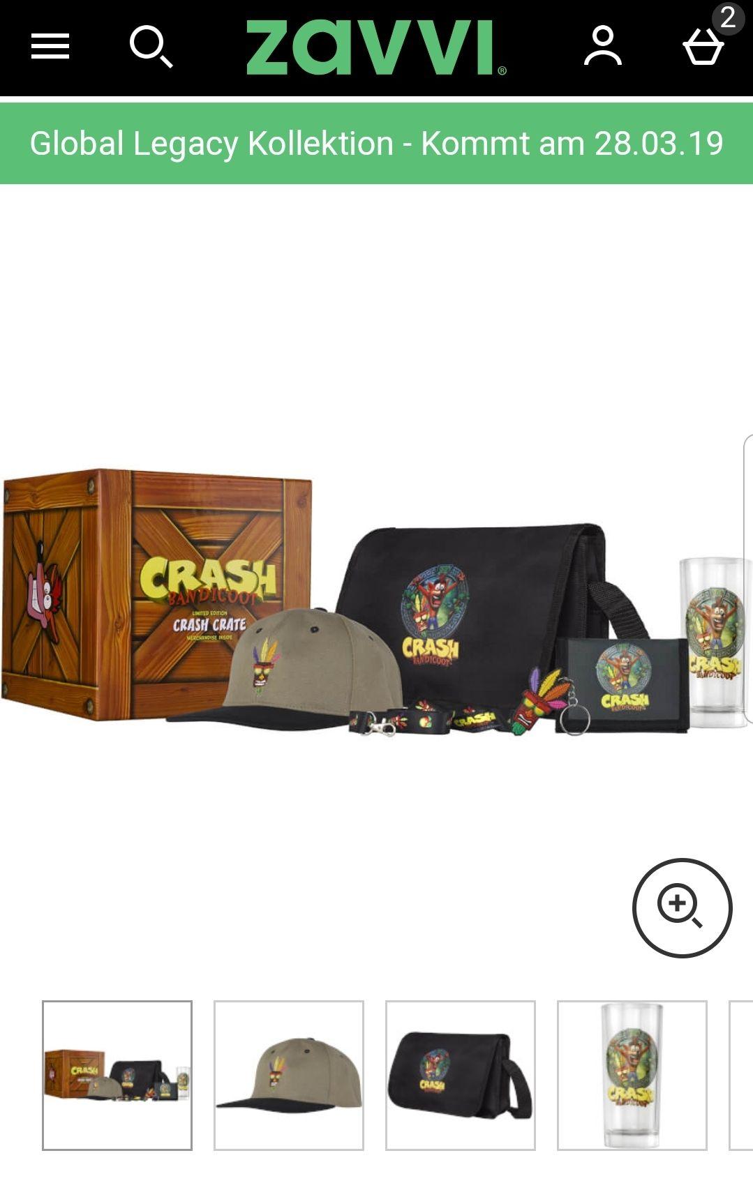 Crash Bandicoot Collectable Merch Big Box