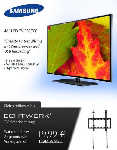 Samsung UE46 ES5700 (Edge-LED, DVB T/C/S, HBBTV, USB-Rec) für 555€