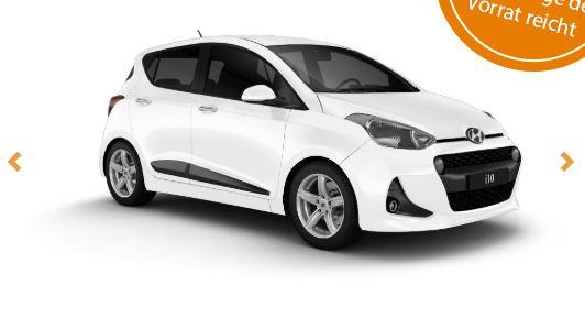Nur über Corporate Benefits - Privat Leasing Hyundai i10 - ab 99€ + 199€ Überführung inkl. Versicherung 36M