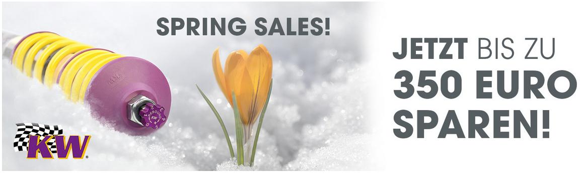 KW Spring Sales 2019 - bis zu 350€ sparen beim Kauf eines Gewindefahrwerks