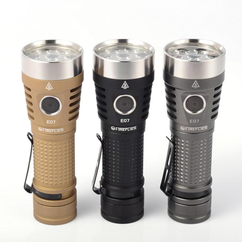 Fireflies E07 6900 Lumen 21700 / 18650 Taschenlampe