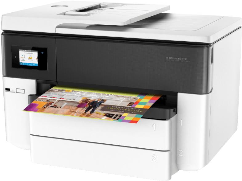 HP Officejet 7740 (A3&A4, Duplexdruck, 22/18 S/min, 500 Blatt, Scanner, Kopierer, Fax, Dual-Duplex-ADF, WLAN, LAN, USB)  30€ Cashback von HP