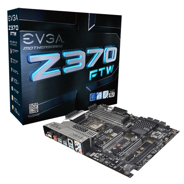 EVGA Z370 FTW ATX, Sockel 1151-v2 , Intel Z370, 4x DDR4 max. 64 GB , 3x PCIe (x16), 3x PCIe (x1) , 6x SATA3, GB-LAN , 1x USB-C
