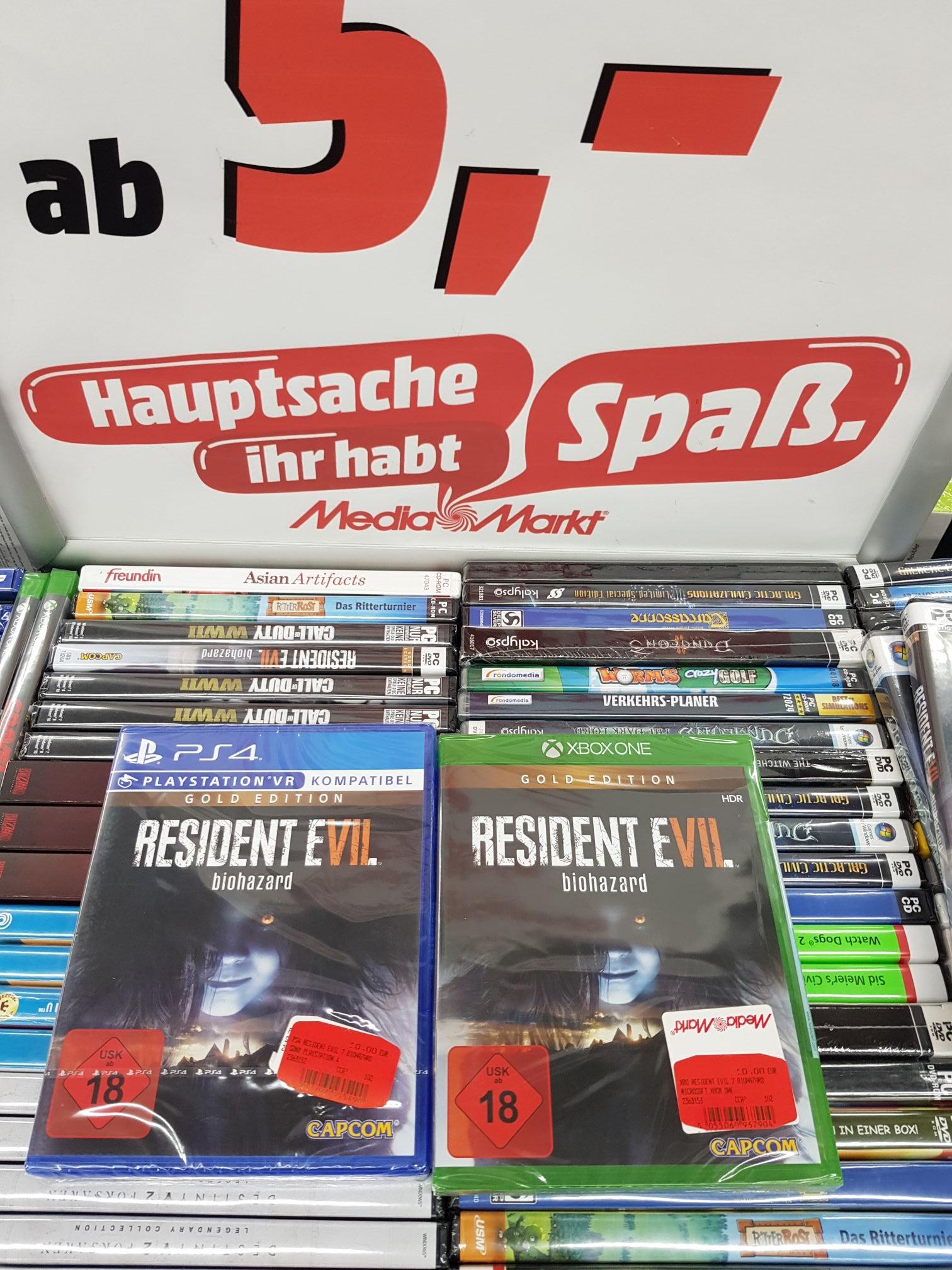 (Lokal) PS4/Xbox-Games für 10 € (mit Club Card 8,50 €) u.a. Resident Evil 7 Gold Edition, Dragonball Fighterz uvm. @ Mediamarkt Pforzheim