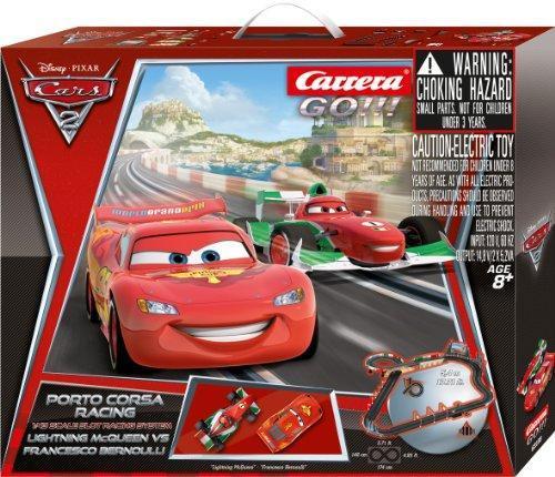 Carrera Go!!! Disney Cars 2 Porto Corsa Racing Rennbahn bei Galeria Kaufhof - NUR HEUTE