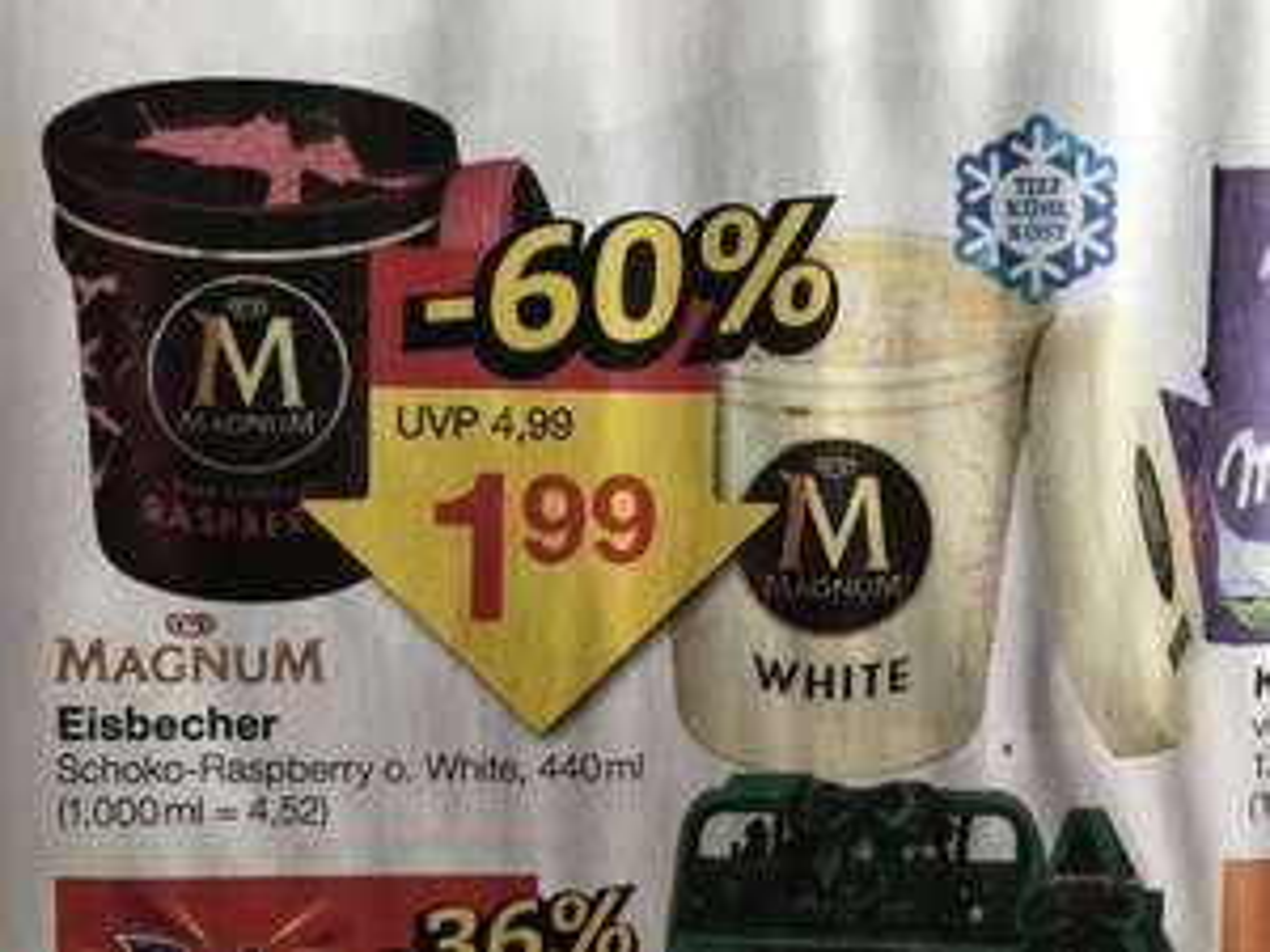 Magnum Eisbecher (440ml) Dark Chocolate Raspberry & White | Jawoll
