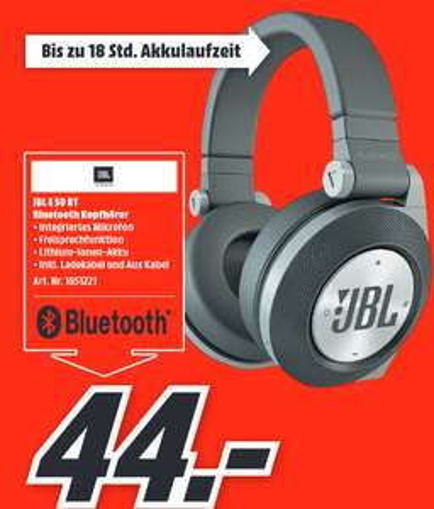 [Lokal: Media Markt Schleswig & Flensburg] JBL E50BT Over-ear Kopfhörer | HYPERX Pulsefire Core Gaming Maus für 25€ | HyperX CloudII für 66€