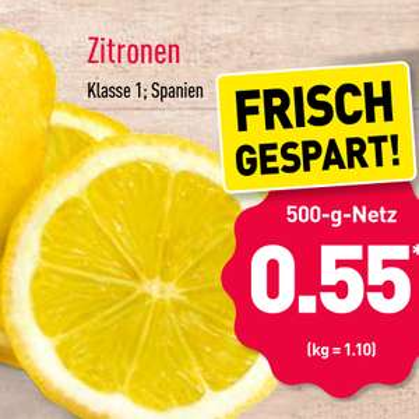 Zitronen 500g für nur 55 Cent bei ( Aldi Nord ab 29.4.)