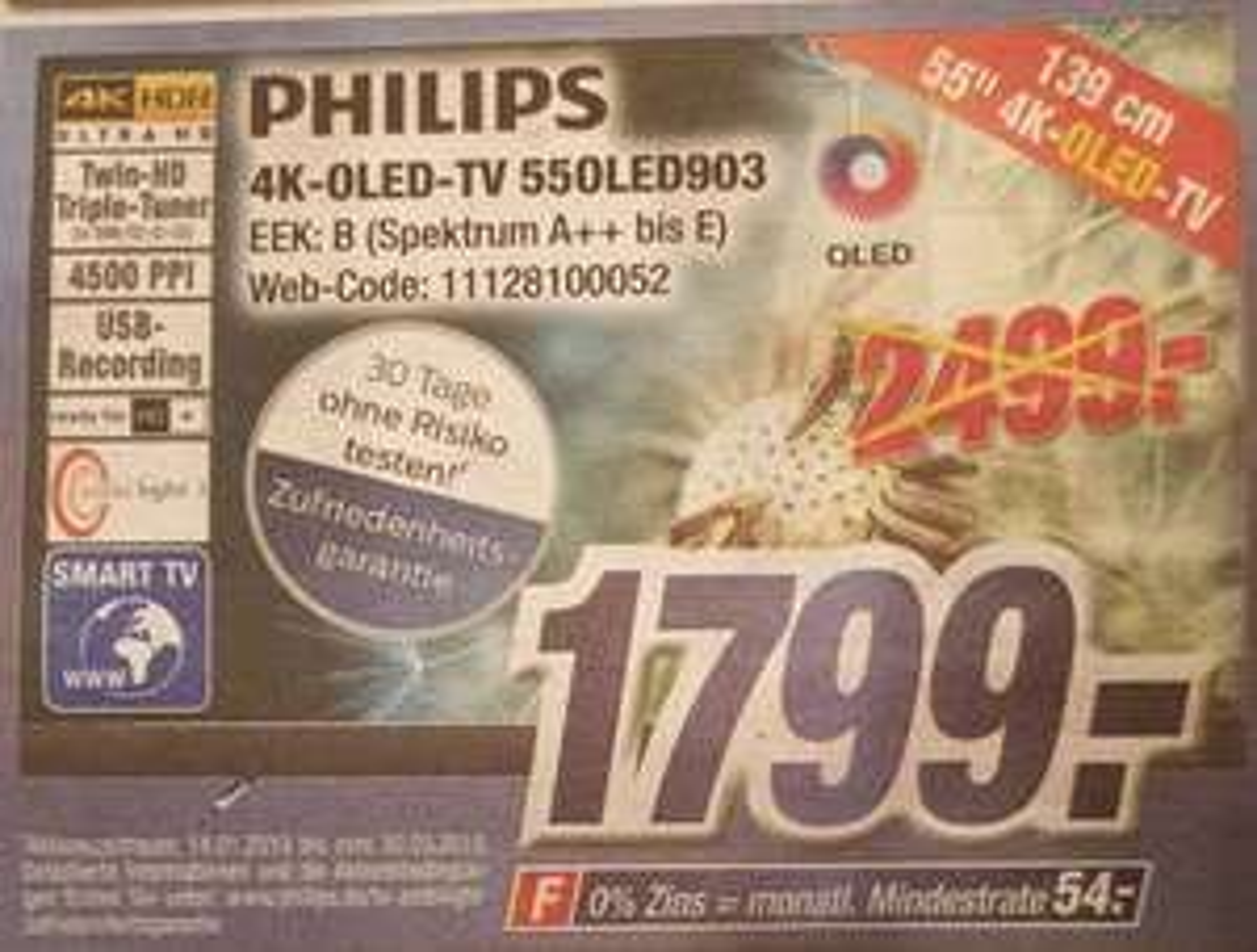 (lokal) Phillips OLED 903 55 Zoll 4K UHD Ambilight TV