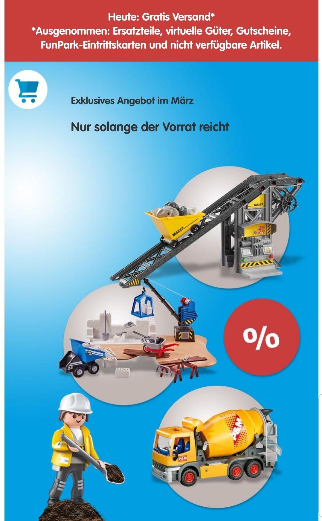 Playmobil - Heute Versandkosten sparen