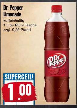 [Edeka Region Nord] Dr. Pepper - 1l Flasche - Preis ohne Pfand