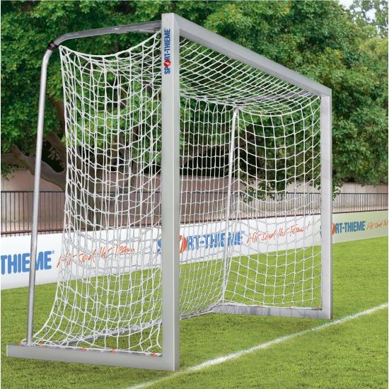 Alu-Kleinfeldtore 3x2 m, Quadratprofil, frei stehend oder in Bodenhülsen + Gratis Fußball
