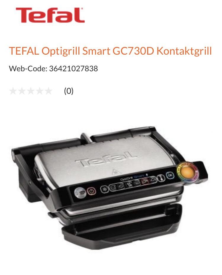 Tefal OptiGrill+ Smart GC730D Kontaktgrill (mit App-Steuerung für ideale Grillergebnisse, 2.000 Watt)