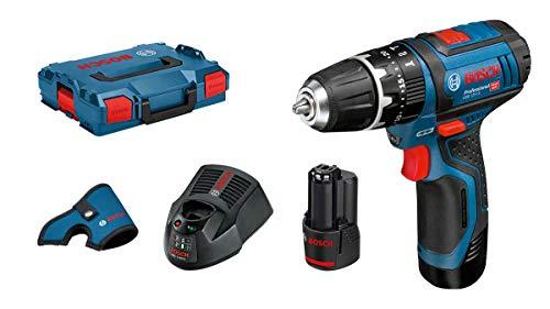 Bosch Professional GSB 12V-15 Akku-Schlagbohrschrauber + L-Boxx + 2 Akkus 2.0Ah + AL 1130 CV (06019B6906) für 114,95€
