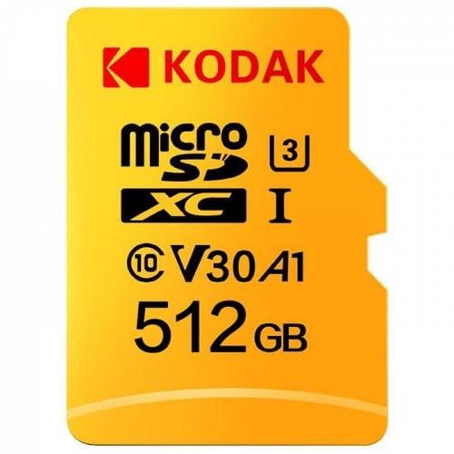 Gearbest Blitzdeal Kodak SDXC U3 A1 V30 microSDXC TF Karte - Gelb 512GB