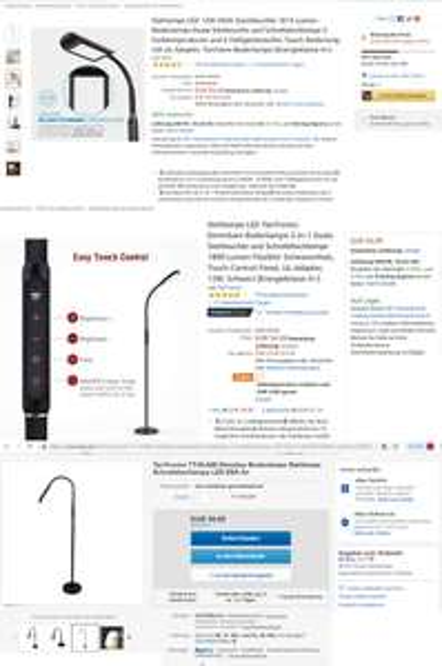 12W LED Stehlampe Schreibtischlampe 52€/60€ - TaoTronics TT-DL046 - auch als eBay Rückläufer
