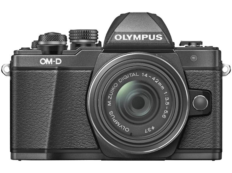 OLYMPUS OM-D E-M10 Mark II Systemkamera 16.1 Megapixel mit Objektiv 14-42 mm f/3.5-5.6, 7.6 cm Display Touchscreen, WLAN + M.Zuiko 45mm f1.8 Objektiv