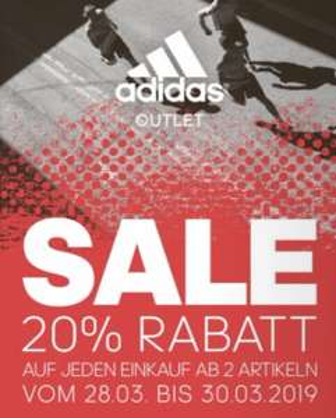 [Lokal + Offline]  20% ADIDAS & REEBOK Outlet Store in Herzogenaurach + Greding