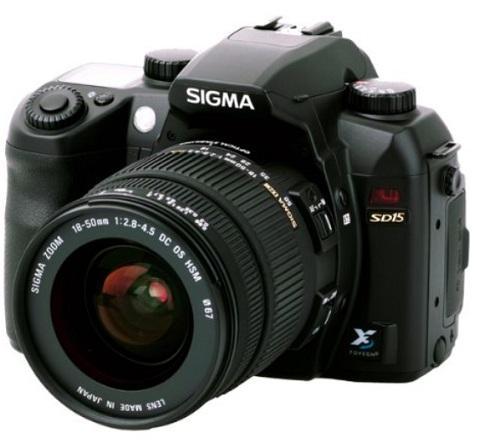 SIGMA SD15 SLR Kamera + 18-50mm Objektiv - Spiegelreflex, DSLR