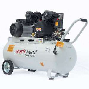 """Starkwerk Druckluft Kolben-Kompressor """"SW 475/10"""" (100 Liter, 250L/min, 2 Zylinder, V-Aggregat, 3PS, 10Bar) [Ebay]"""