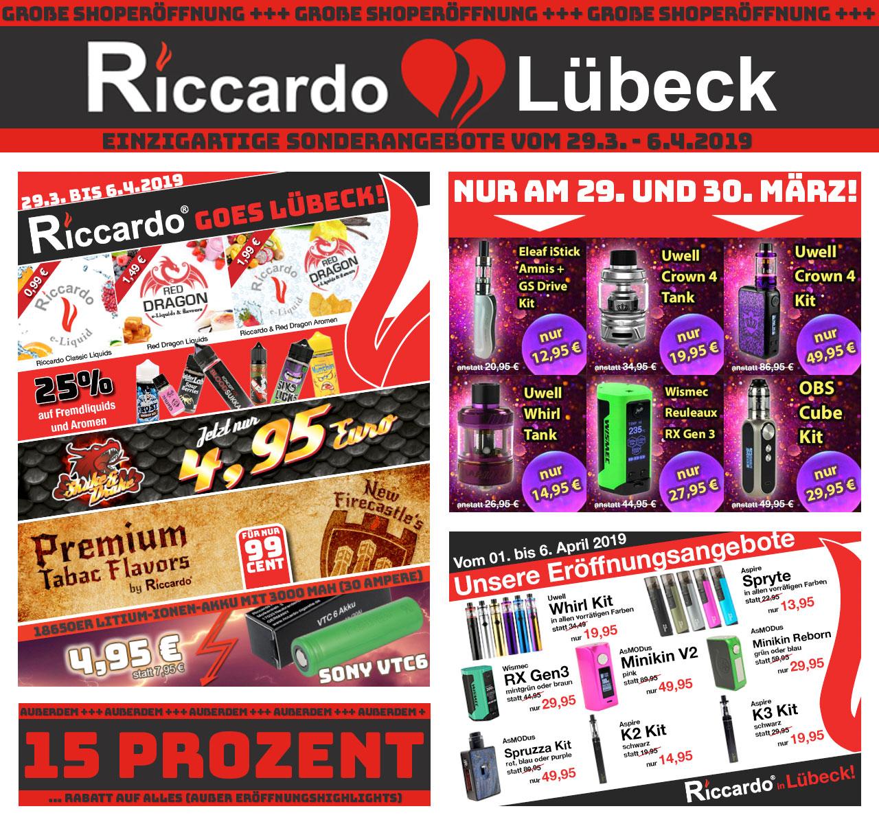Riccardo Grand Opening in Lübeck am 29.03.2019 (Lokal und online)