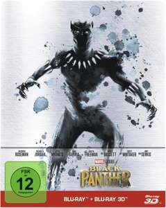 Black Panther 3D Limited Steelbook Edition (3D Blu-ray + Blu-ray) für 15,30€ (Müller)