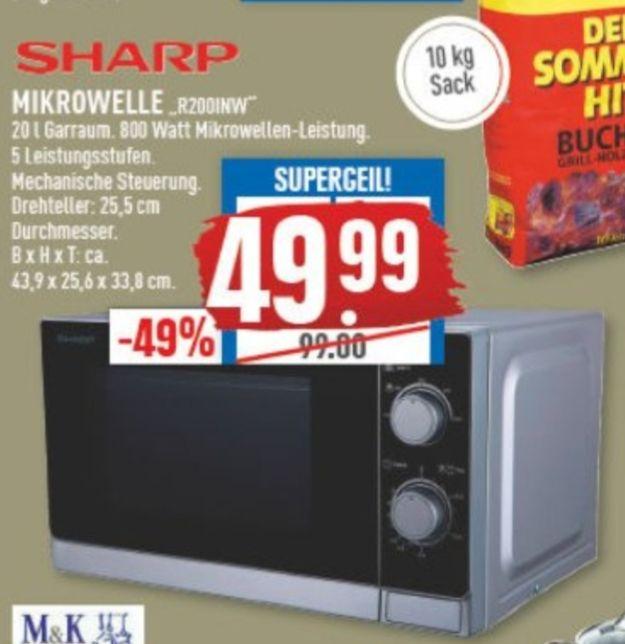 [Marktkauf] Sharp R200Inw Mikrowelle 800W Silbermetallic - lokal Münster?